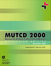 2000 MUTCD with Errata 1 Changes Incorporated, June 2001 cover