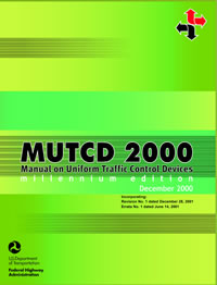 2000 MUTCD with Revision 1, December 2001 cover