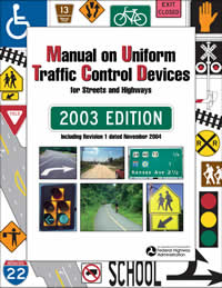 2003 MUTCD with Revision 1 only, November 2004 Edition cover