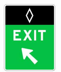 Figure 3. Exit Gore sign at a direct exit from a preferential lane.