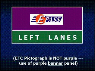 Example 2 shows ETC Pictograph is NOT purple --- use of purple banner panel.